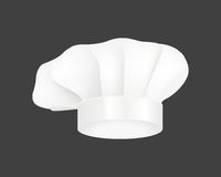Modern white chef hat restaurant uniform costume wear fabric cooker fashion vector illustration. Modern white chef hat restaurant cuisine uniform and costume Stock Photo