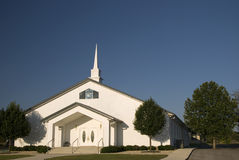 Modern White Church Stock Photo