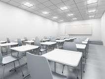 Modern white classroom Royalty Free Stock Images