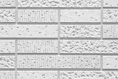 The modern white concrete tile wall Stock Photography