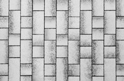 Modern white concrete tile wall background and texture Royalty Free Stock Image