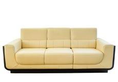 Free Modern White Cream Leather Sofa Royalty Free Stock Image - 27580676