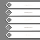 Modern white Design template Royalty Free Stock Photos