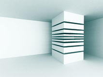 Modern White Empty Abstract Interior Background Stock Photography