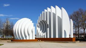 Modern White Extravagant Sculpture Royalty Free Stock Photography
