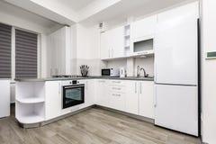 modern white för kök arkivbild