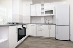 modern white för kök arkivfoto