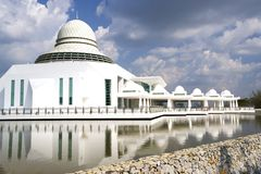 Modern White Floating Mosque Stock Photography