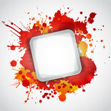 Modern white frame with red blots Stock Photo