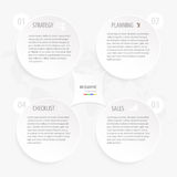 Modern white gray circle business infographic template with world map background Royalty Free Stock Photography