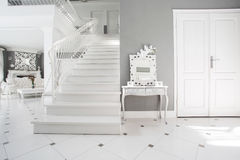 Modern white and gray interior Royalty Free Stock Images