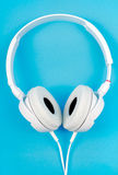 Modern white headphone Royalty Free Stock Photo