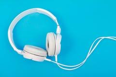 Modern white headphone Royalty Free Stock Image