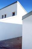 Modern white home Stock Images