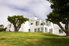 Modern White Homes On A Hill In California. Large modern newer white homes community on a steep hill in California Stock Photography