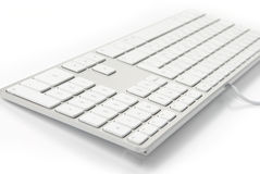 Modern white keyboard Stock Image