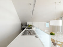 Modern white kitchen Royalty Free Stock Photography