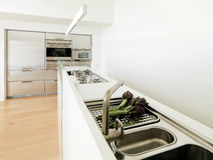 Modern white kitchen Royalty Free Stock Photos