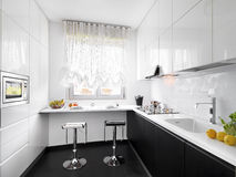 Modern white kitchen Royalty Free Stock Images