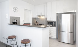 Modern white Kitchen Royalty Free Stock Photo