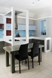 Modern white kitchen Stock Image