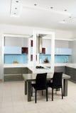 Modern white kitchen Stock Images