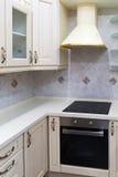 Modern white kitchen clean interior design Royalty Free Stock Image