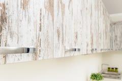 Modern white kitchen detail stock photos