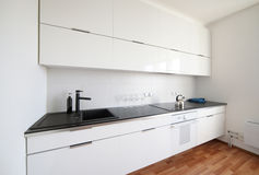 Modern white kitchen interior Stock Photo