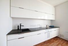 Modern white kitchen interior Stock Photo
