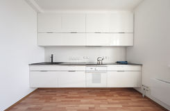 Modern white kitchen interior Stock Image