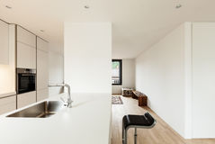 Modern white kitchen Stock Photo