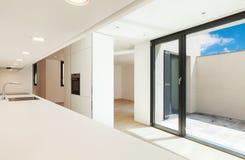 Modern white kitchen Royalty Free Stock Image