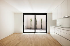 Modern white kitchen Stock Photography