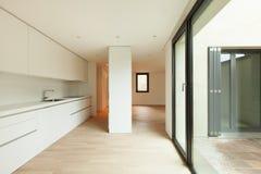 Modern white kitchen Royalty Free Stock Photo