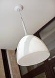 Modern white lamp shade Royalty Free Stock Photography