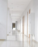 Modern white long corridor Stock Photography