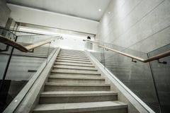 Modern white marble stairs Royalty Free Stock Photos