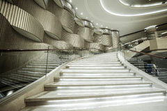 Modern white marble stairs Royalty Free Stock Photo
