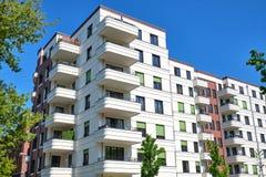 Modern White Multi-family Apartment House Stock Photography