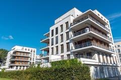 Modern White Multi-family Houses In Berlin Stock Photography