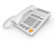 Modern white office telephone Stock Images