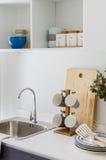 Modern white pantry Stock Image