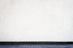 Modern white plaster street wall Stock Photo