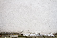 Modern white plaster street wall Stock Photography