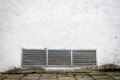 Modern white plaster street wall Stock Photos