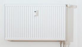 Modern white radiator Stock Photos