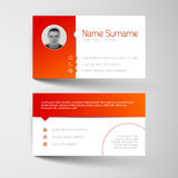 Modern white and red business card template Royalty Free Stock Photography
