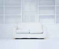 Modern white room stock photo