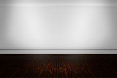 Modern White Room Background. With brown wooden floor Royalty Free Stock Photo